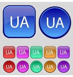 Ukraine sign icon symbol UA navigation Set of vector
