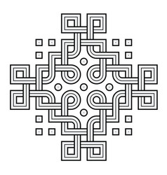 viking decoration knot - interweaved rings n vector image
