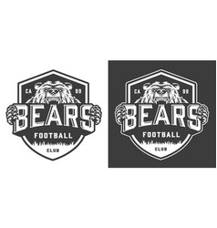 vintage monochrome football team mascot logo vector image