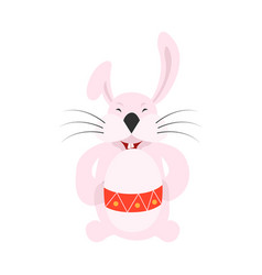 White easter rabbit easter bunny vector