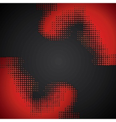 abstract red halftone background vector image vector image