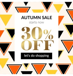 Autumn sale background with pattern vector image