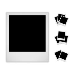 Blank Photo Frame Isolated On White Background vector image