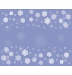 dark Christmas snowflakes background vector image