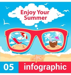 infographic summer time vector image