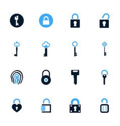 lock and key icons set vector image