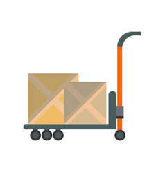 packing boxes on truck in flat design vector image