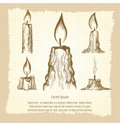Vintage poster with candles vector image vector image
