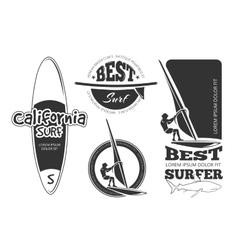 Vintage surfing labels vector image vector image