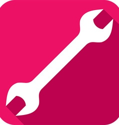 Wrench tool icon vector