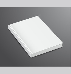 blank book design isolated on dark background vector image