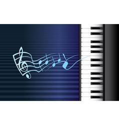 Piano music vector image vector image