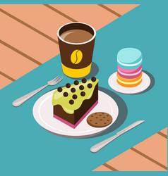 sweet breakfast composition vector image