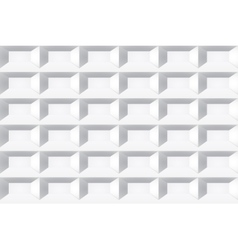 White tile texture Seamless geometric background vector image