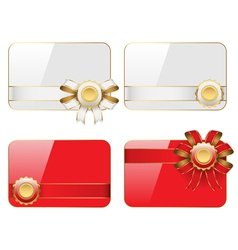 cards with ribbons vector image vector image