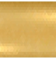 Gold metallic background vector image