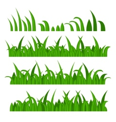Green Grass Constructor on White vector image vector image