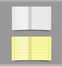 school notebook gray background vector image