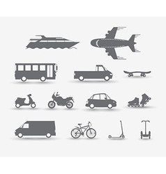 Traffic vehicles vector image vector image