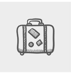 Travel luggage sketch icon vector image vector image