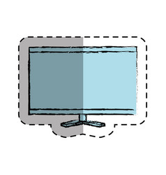 computer desktop with template icon vector image