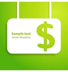 Dollar sign applique background vector image vector image