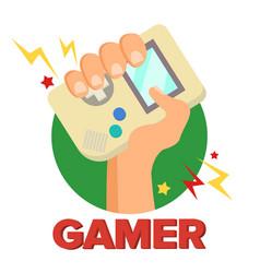 gamer concept games digital design vector image vector image