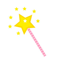 magic wand icon flat cartoon style isolated on vector image
