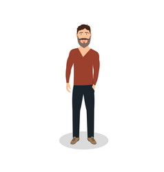 man casual dressed business man vector image