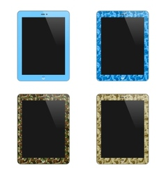 Realistic Concept Of Tablet PC With Blank Screen vector image vector image