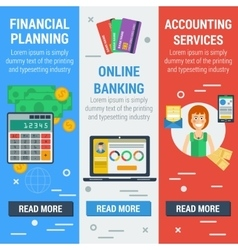 Three vertical financial banners vector image