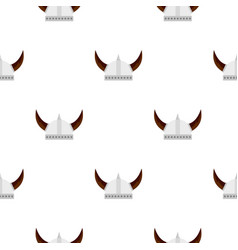 Viking helmet pattern flat vector