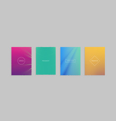 abstract minimal covers design template vector image