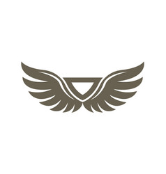 abstract wings isolated emblem vector image
