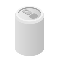 Aluminum can isometric 3d icon vector image