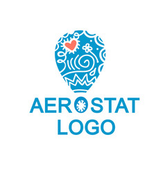 balloon logotype vector image