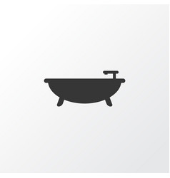 bathroom icon symbol premium quality isolated tub vector image