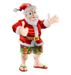 beach summer santa vector image