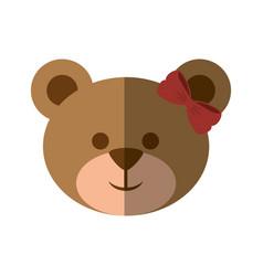 Bear cute cartoon vector