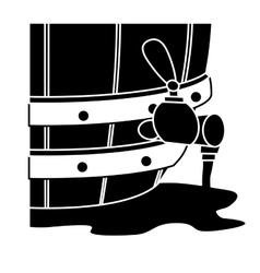 Black beer dispensers icon image design vector