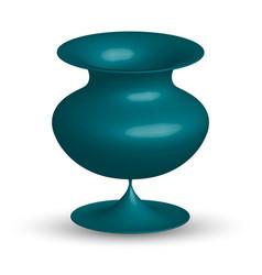 Ceramic vase isolated vector