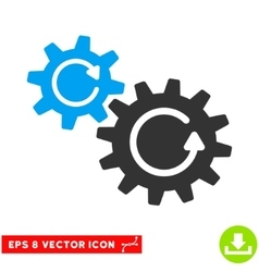 Cogs Rotation Eps Icon vector
