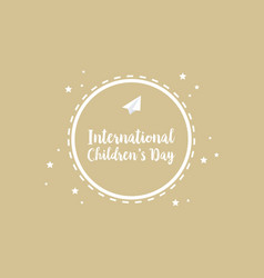 Collection greeting card childrens day vector