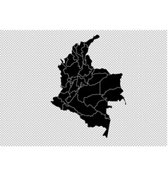 Colombia map - high detailed black map with vector