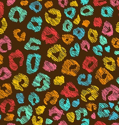 Colorful Seamless Pattern Of Leopard Skin vector