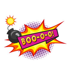 Comic lettering boo-o-o on white background vector