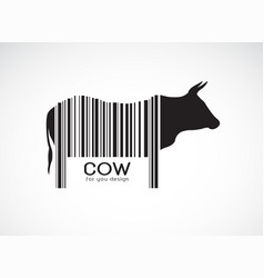 cow on the body is a barcode farm animals cow vector image