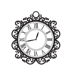 Decoration clock vector