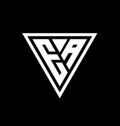 Ea logo monogram with triangle shape designs vector