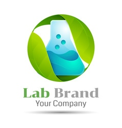 Eco Green Lab Volume Logo Colorful 3d Design vector image